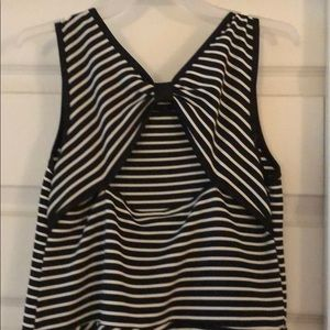 emily west Dresses - Girls size 14 black and white striped dress